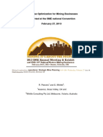 Enterprise Optimization for Mining Businesses_SME 2013