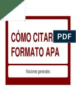 Formato APA - Generalidades