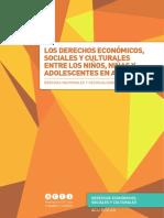 Los DESCA entre los niños, niñas y adolescentes en Argentina. Brechas nacionales y desigualdades territorializadas.