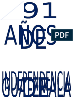 191 Años de Independencia de Centroamerica