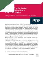 SARTORI, Vitor. 'Diálogos' entre Lukács e Pachukanis sobre a crítica ao Direito.pdf