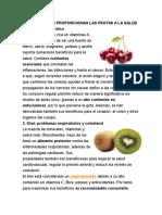 Beneficios Que Proporcionan Las Frutas a La Salud