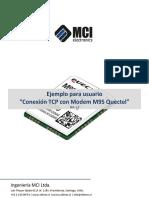Ejemplo Para Usuario Conexión TCP Con Modem M95 Quectel REV. 1.0