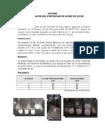 Determinacion de la acidez en una muestra de leche.