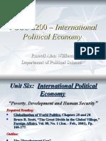 POSC 2200 - Development and Human Security