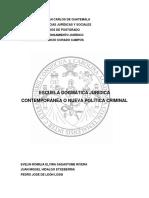 Escuela Dogmática Jurídica Contemporánea o Nueva Política Criminal
