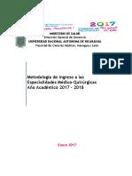 Metodología Ingreso Especialidad Medica Qurúrgica