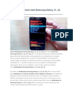 Desbloquear Hard Reset Samsung Galaxy J1, J2, J3, J5 y J7