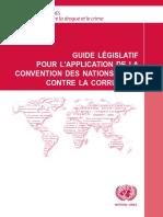 Guide législatif pour la lutte contre la corruption
