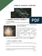 EL UNIVERSO IIBV Estrellas Planetas y Satelites