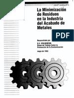 LA MINIMIZACION DE RESIDUOS EN LA INDUSTRIA DEL ACABADO DE METALES.pdf