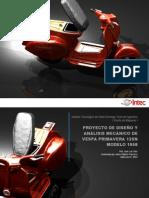 Proyecto de Diseño y Análisis Vespa Primavera 125N por  Jairon Francisco 07-0034