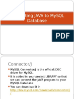 Connecting JAVA to MySQL Database