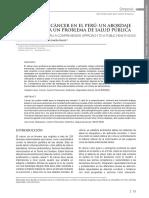 Control Del Cáncer en El Perú Un Abordaje Integral Para Un Problema de Salud Pública