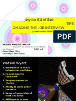 Tips on Acing the Job Interview