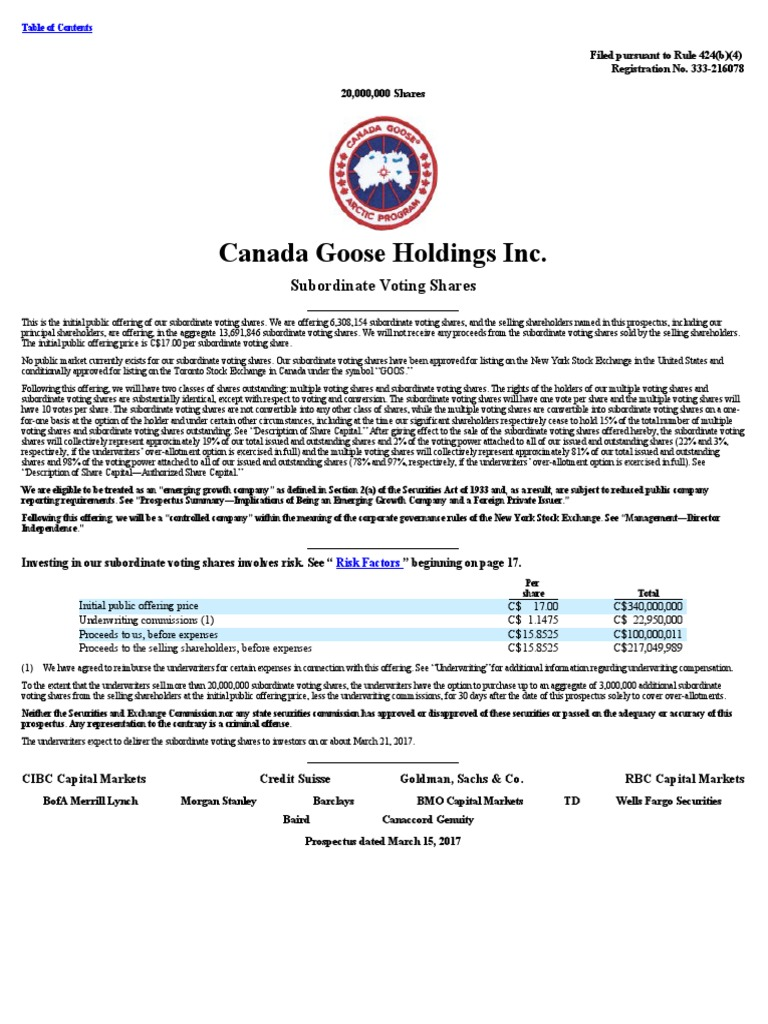 canada goose brand ambassador salary
