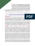 Resumen Corto de La Independencia Del Perú
