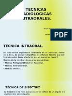 TECNICAS RADIOLOGICAS INTRAORALES