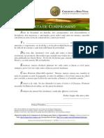 Carta de Compromiso Personal Para El Liderazgo - Carlos de La Rosa Vidal