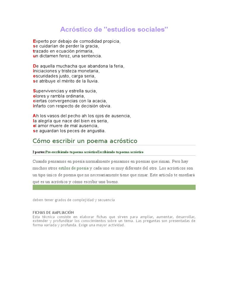 Encantador Plantillas De Poemas Fotos - Ejemplo De Currículum ...