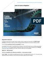 Cable Spacing as a Means of Noise Mitigation
