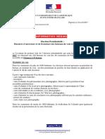 2017-04-18 Communiqué - Election Présidentielle - Horaires Des Bureaux de Vote en PF