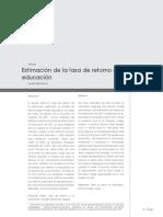 3. Estimacion de La Tasa de Retorno a La Educacion