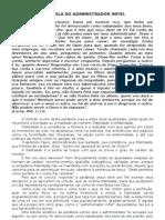 PARÁBOLA DO ADMINISTRADOR INFIEL