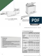Manual Congeladoras Coldex