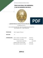 Informe Final 1 . Leyes de kirchoff, reconocimiento de equipos