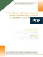 5. Artigo - A Interface Entre Valores Humanos e Mudança Organizacional