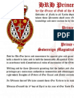2013-04-03 Letters Patent Templar Grand Master - Prince Matthew of Thebes - Kingdom of Mann