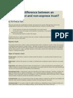 Express Trust Definition