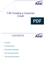 7.05 Create Customer Credit
