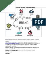The History of Brand Identity Web Design
