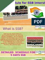 5 Days Schedule for SSB Interview