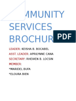Community Services Brochure
