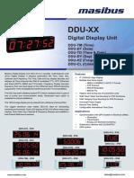 Masibus DDU-XX R1F 0815 Digital Display Unit