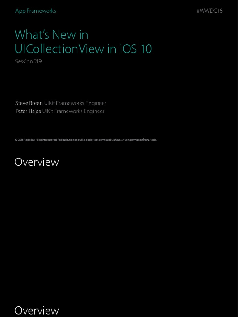219 Whats New in Uicollectionview in Ios 10 | System