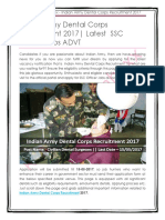 Indian Army Dental Corps Recruitment 2017