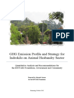 GHG Emission Profile and Strategy for Indrokilo on Animal Husbandry Sector