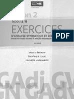 Exercices d'analyse syntaxique et textuelle pour un cours de mise à niveau «nouvelle grammaire» (Module 3).pdf