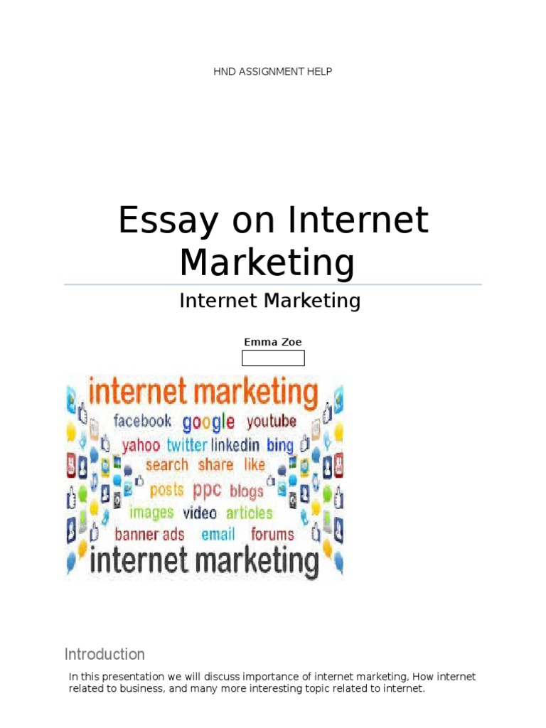 essay on internet marketing