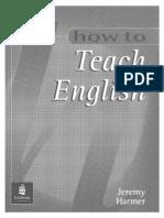 How to Teach English Jeremy Harmer