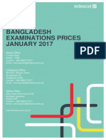 Bangladesh Price List - Edexcel January 2017 v3