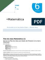 7 Plan de Clase - Matemática 6to Primaria