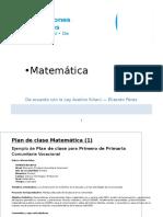 7 Plan de Clase - Matemática 1ro Primaria