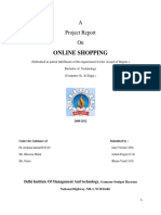 92469239 Online Shopping Project Report