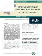 Implementation of FATA Reforms Package Setting the Priorities