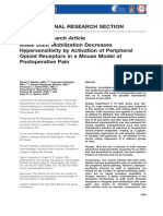 Ankle Joint Mobilization Decreases